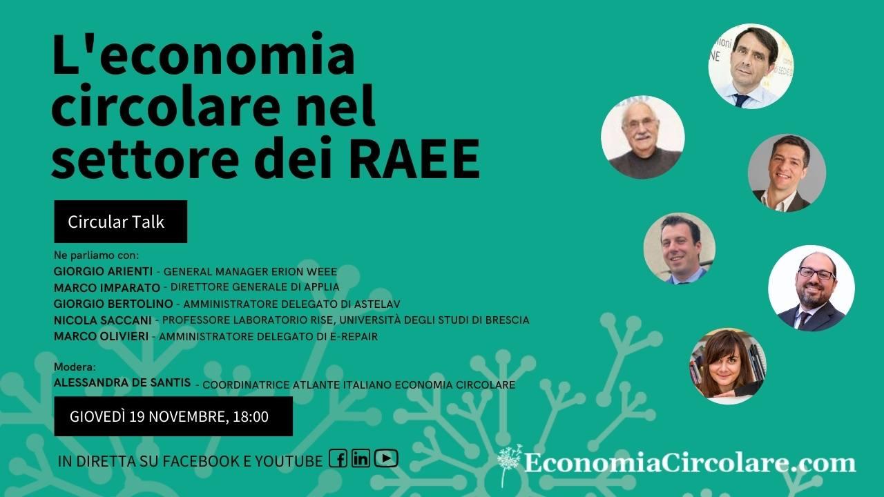 L'economia circolare nel settore dei RAEE